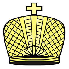 vector drawing of a crown