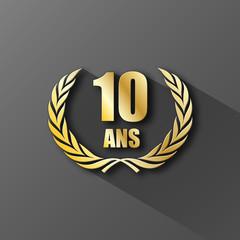 COURONNE DE LAURIERS 10 ANS (anniversaire palme prix excellence)