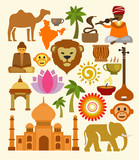 vector india icon set
