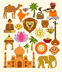 vector india icon set