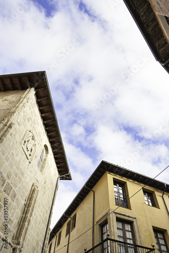 Ancient church and classical houses