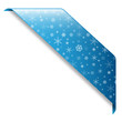 SNOWFLAKE RIBBON (blue button icon label stamp)