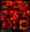 Abstract red triangles background. Vector.