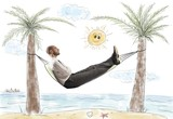 Fototapety Success and relax of a businessman