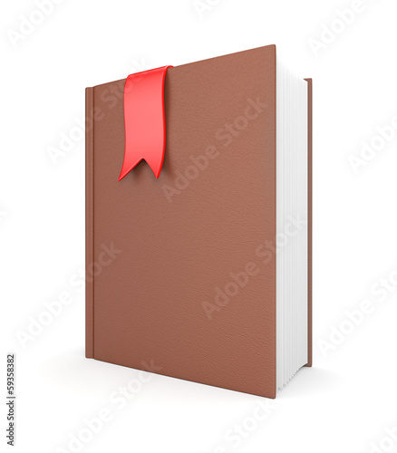 Leather diary with bookmark