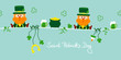 Saint Patrick´s Day 2 Leprechauns & Symbols Retro