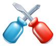 Screwdrivers crossed tools icon