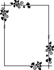 Vector decorative frame I