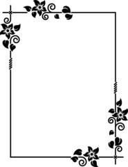 Vector decorative frame I