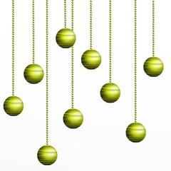 sfondo con addobbi verdi