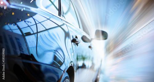 Rear view of luxury car - 59359980