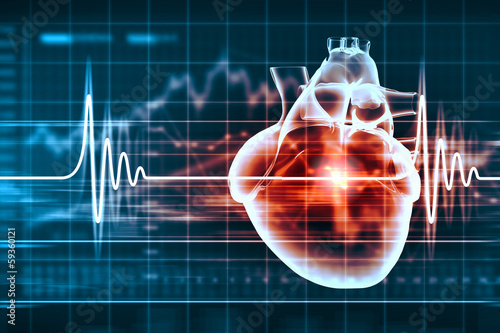 Human heart beats - 59360121
