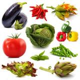 verdure fresche collage