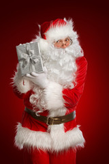 Santa Claus with a goftbox