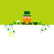 Background Leprechaun & Symbols Light Green