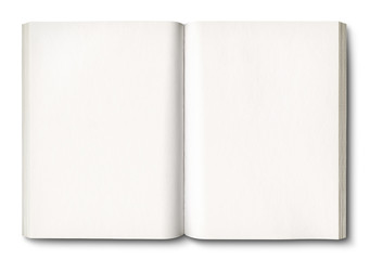 White open book isolated on white