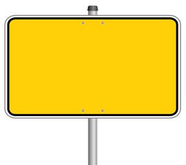Ortsschild Schild Gelb  #131213-svg01