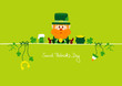 Postcard Leprechaun & Symbols Light Green