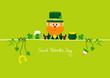 Postcard Leprechaun & Symbols Light Green