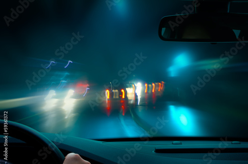 canvas print picture night driving