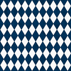 Navy Blue and White Diamond Shape Fabric Background