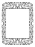 frame with laurel, black isolated