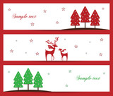 Stylish Christmas holiday banner design vector illustration
