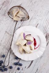 Sweet fruit dumplings.