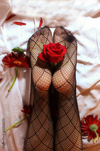 Pantyhose flower 6