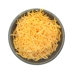 Shredded Cheddar Cheese Dish