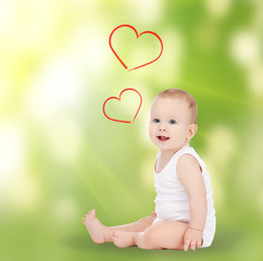 adorable smiling baby
