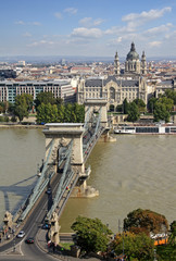 View at the Széchenyi Chain Bridge