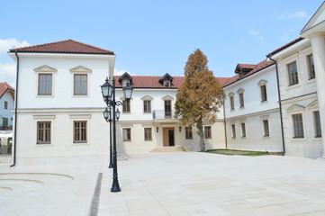 The building of marble Andric city