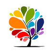 Abstract rainbow tree for your design - 59365559