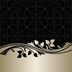 Luxury ornamental Background with silver Border.