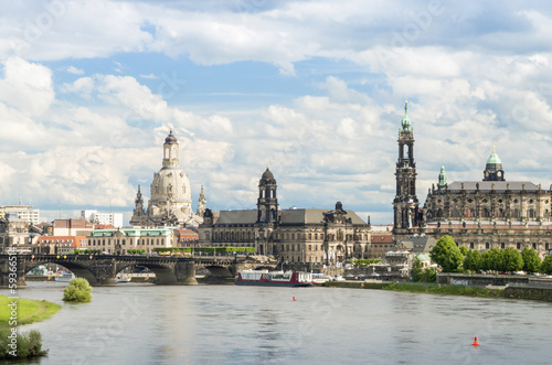 Dresden Skyline, Germany, Europe