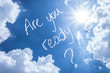Are You Ready written on a beautiful sky - 59366731