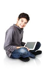 Adolescente con ipad