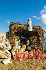 Nativity Scene on the Mediterranean sea.