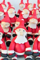 Fondant Santas