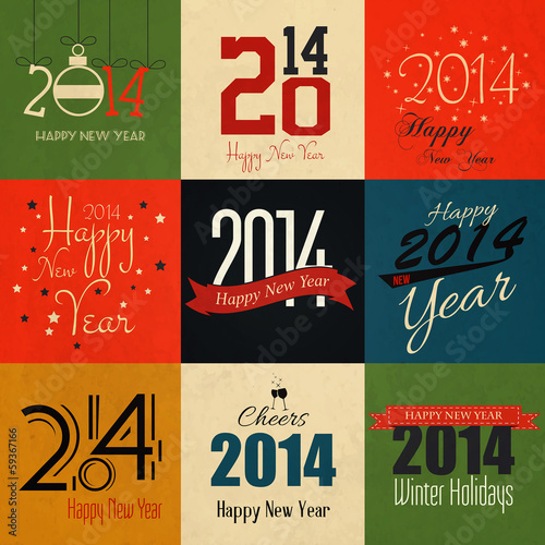 Vintage styled holidays Card. Vector