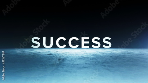 Animation of the word success for business