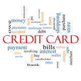 Credit Card Word Cloud Concept
