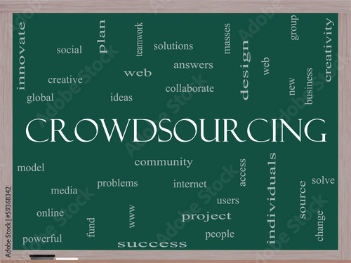Crowdsourcing Word Cloud Concept on a Blackboard