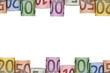 Rahmen aus Euro Scheinen mit Textfreiraum