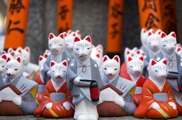 Religious fox statues