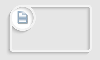 white text frame for any text with notes icon