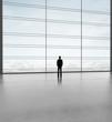 businessman in big office