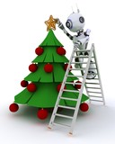Robot trimming the tree