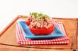 Meat-stuffed tomatoes